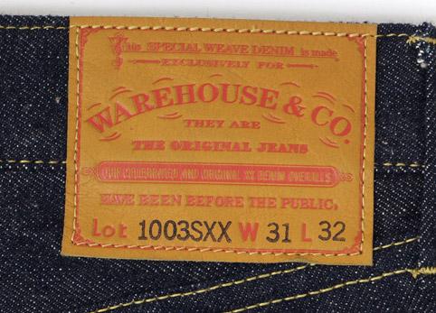 WAREHOUSE(ウエアハウス)Lot.1003SXX 大戦モデル ディティール6