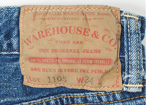 WAREHOUSE 2ND-HAND Lot.1105 USED WASH ディティール2