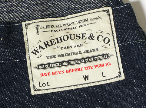 WAREHOUSE Lot.1093 BIB OVERALL DENIM ディティール1
