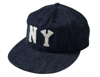 DENIM BASEBALL CAP NEWYORK BLACK YANKEES