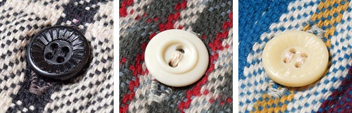 WAREHOUSE(ウエアハウス) Lot 3095 ネルシャツ ボタン
