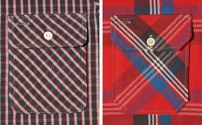 WAREHOUSE(ウエアハウス) Lot 3095 ネルシャツ ポケット