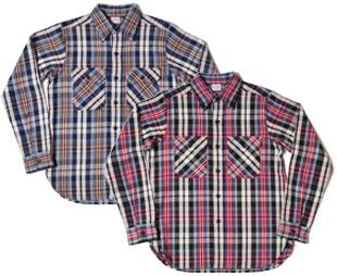WAREHOUSE(ウエアハウス) Lot 3095 ネルシャツ B柄