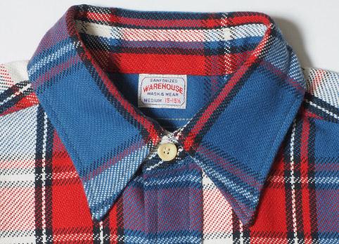 ウエアハウスネルシャツ Lot 3104 C柄 ディテール5