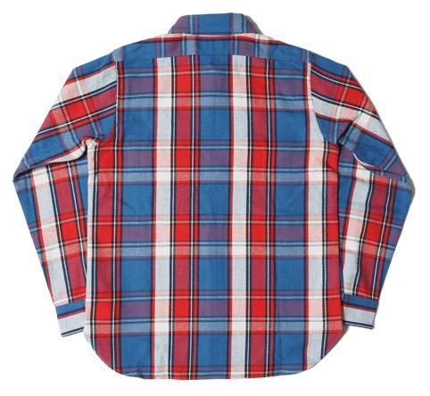 ウエアハウスネルシャツ Lot 3104 C柄 後