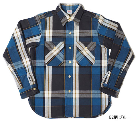 Lot.3104 FLANNEL SHIRTS type-B B2柄 ブルー