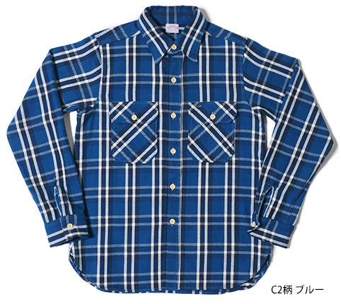 Lot.3104 FLANNEL SHIRTS type-C C2柄 ブルー
