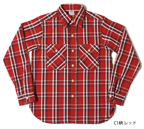Lot.3104 FLANNEL SHIRTS type-C C1柄 レッド