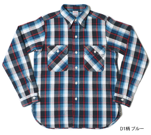 Lot.3104 FLANNEL SHIRTS type-D D1柄 ブルー