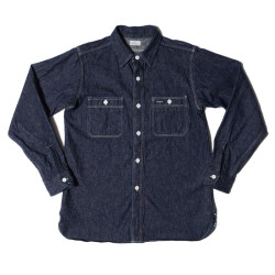 Lot 3076 TRIPLE STITCH WORK SHIRTS インディゴデニム NON WASH