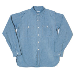 Lot 3076 TRIPLE STITCH WORK SHIRTS シャンブレー USED WASH