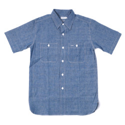 Lot 3080 S/S CHAMBRAY WORK SHIRTS NON WASH