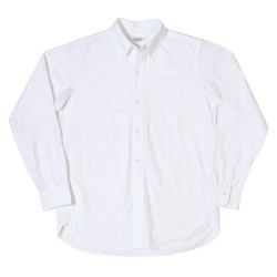 L/S OXFORD B.D. SHIRTS(NON WASH) A柄(無地)