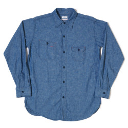 HC-230 1930's Roomy Richard Cigarette Pocket Chambray Shirt OR