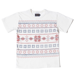 "PENDLETON×WAREHOUSE NATIVE PATTERN T ""SUPERNOVA"""