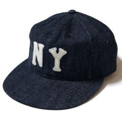 "DENIM BASEBALL CAP ""NEWYORK BLACK YANKEES"""