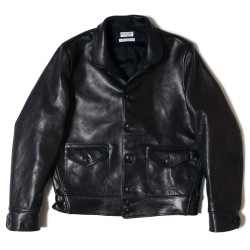 HC-240 1930's Short Type Horse Leather Sports Jacket