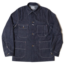 HC-242 1950's Military Art Denim Coverall PLAIN