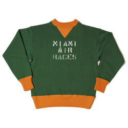 "HC-M65 1930's HC 2tone Double V Sweatshirts ""MIAMI AIR RACES"""