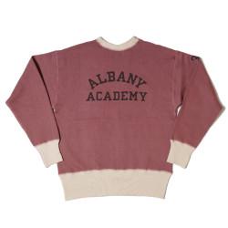 "HC-M75 1930's HC 2tone Flat Seam Sweatshirts ""ALBANY ACADEMY"""