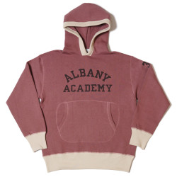 "HC-M85 1940's 2tone Circle Pocket Hooded Sweat ""ALBANY ACADEMY"""