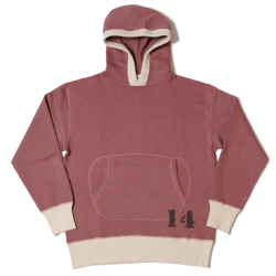 "HC-M85 1940's 2tone Circle Pocket Hooded Sweat ""No.14"""