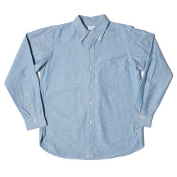 Lot 3099 L/S OXFORD B.D. SHIRTS WITH POCKET 耳付インディゴOX
