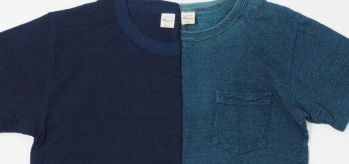 フェードが魅力の先染めインディゴTシャツ