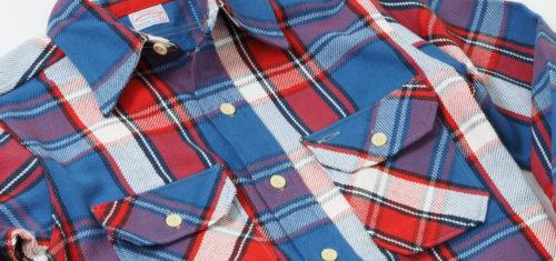 ミミ付きマチで判別する旧いネルシャツ