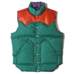 ROCKY MOUNTAIN×WAREHOUSE NYLON DOWN VEST