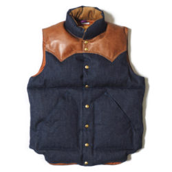 ROCKY MOUNTAIN×WAREHOUSE DENIM DOWN VEST NON WASH