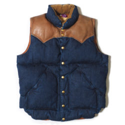 ROCKY MOUNTAIN×WAREHOUSE DENIM DOWN VEST LONG WASH