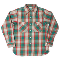HC-218-2 1940's Green Check Flannel Shirts O/W