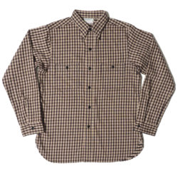 HC-219-2 1940's Beige Check Flannel Shirts OR