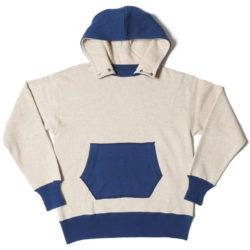 HC-M153-2 1930's Chin Snap 2tone Hood Sweatshirts