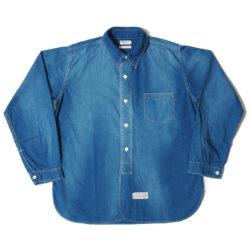 HC-251 Coat style Indigo plain shirts U/W