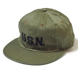 "COTTON BASEBALL CAP ""GREAT LAKES NAVAL STATION 1918"""