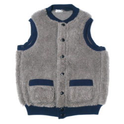 HC-146 1920's Utica Gray-Navy Old Fleece Pile Vest