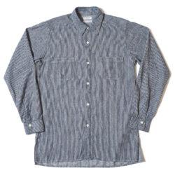 HC-254 1910-20's Indigo Stripe All Single Needle Coat Style Shirts O/W