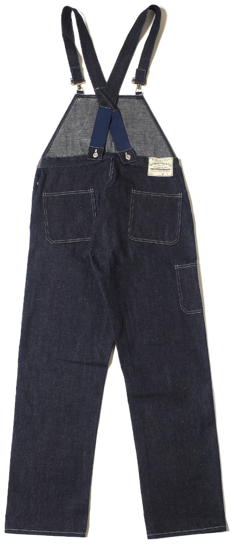 WAREHOUSE & CO. Lot.1093 BIB OVERALL DENIM 後