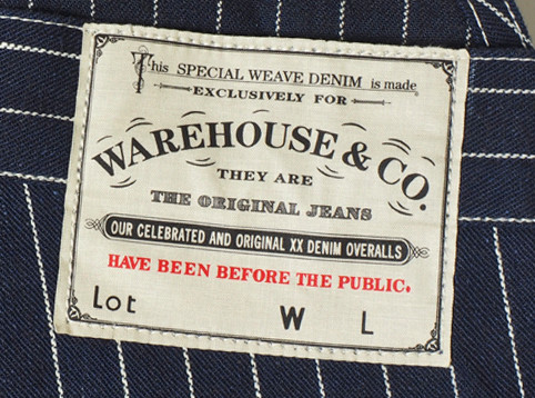 WAREHOUSE & CO. Lot.1093 BIB OVERALL STRIPE ディティール4