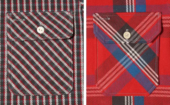 WAREHOUSE(ウエアハウスカンパニー) Lot 3095 ネルシャツ ポケット