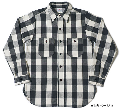 Lot.3104 FLANNEL SHIRTS type-A A1柄 ベージュ