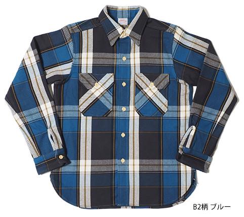 Lot.3104 FLANNEL SHIRTS type-B B2柄 ブルー