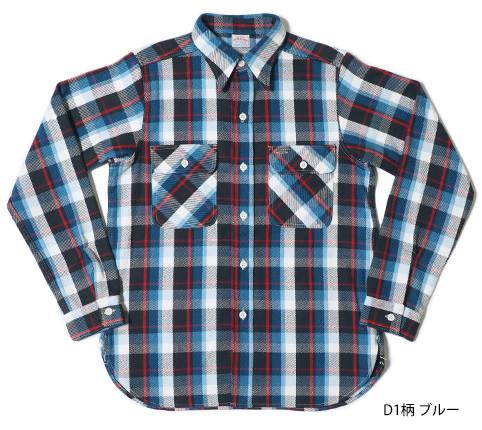 Lot.3104 FLANNEL SHIRTS type-D D1柄 ブルー