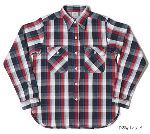 Lot.3104 FLANNEL SHIRTS type-D D2柄 レッド