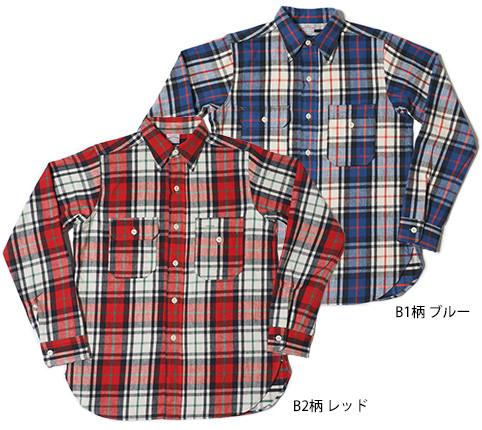 Lot.3105 FLANNEL SHIRTS(UNCLE SUM MODEL) B2柄 レッド B1柄 ブルー