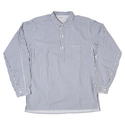 HC-140-2 Turn of Century Print Hickory Stripe Pullover Shirts O/W