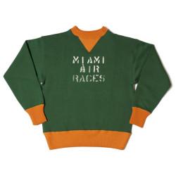 "HC-M65 1930's HC 2tone Double V Sweatshirts ""MIAMI AIR RACES"""