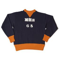 """HC-M65 1930's HC 2tone Double V Sweatshirts """"MHS 65"""""""